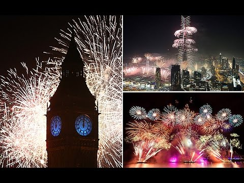 New Year fireworks displays around the world