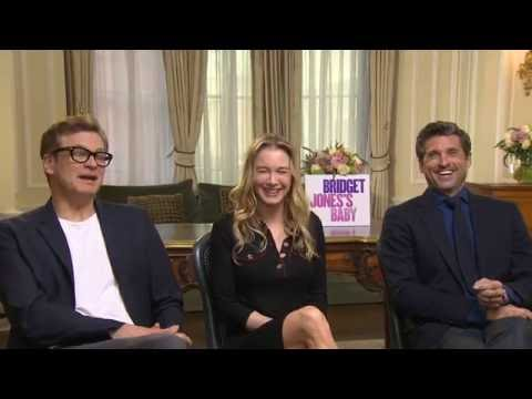 Bridget Jones's Baby Interview - Renée Zellweger, Patrick Dempsey & Colin Firth