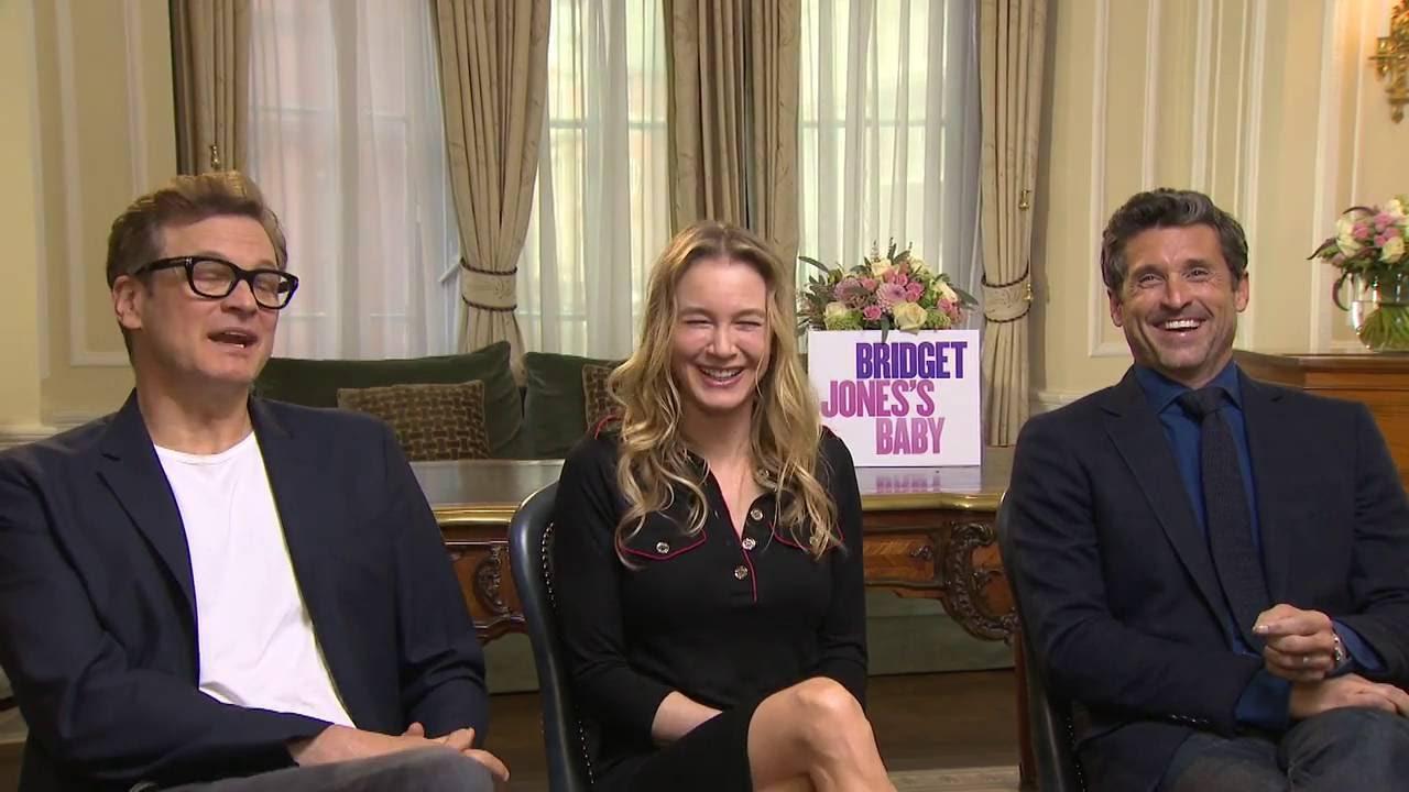 Bridget Joness Baby Interview Renée Zellweger Patrick Dempsey Colin Firth