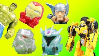 Transformers Mashems Series 3 Metallic & Avengers Blind Bags with Bumblebee and Hulk Ultra Rare!