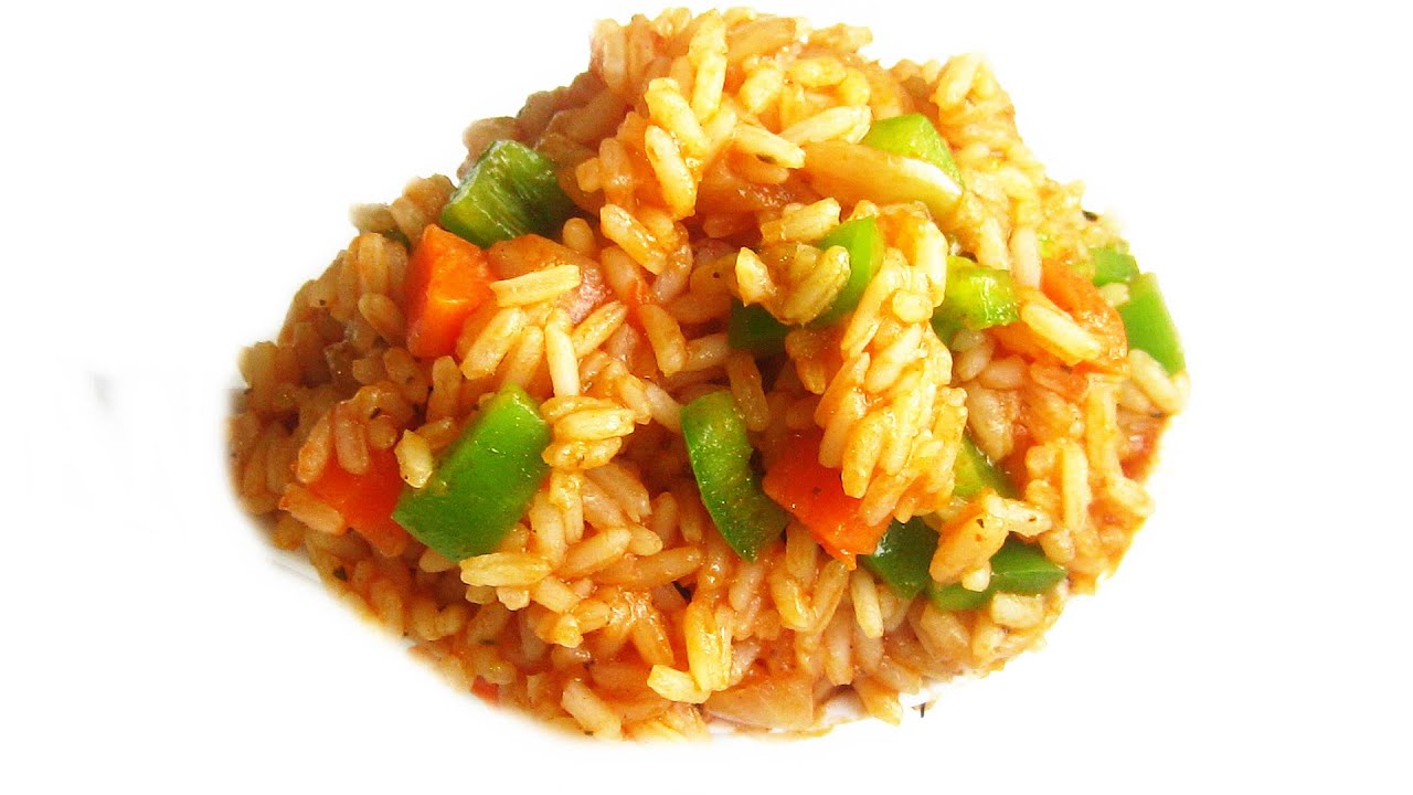 Nigerian Jollof Rice (with Carrots & Green Pepper)  All Nigerian Recipes