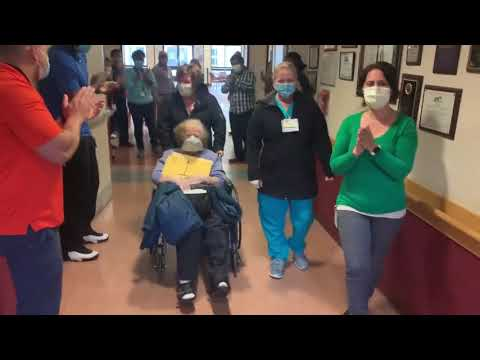 Marcia Clawson, 85, being released from the Valley View Center for Nursing and Rehabilitation after testing positive for COVID-19
