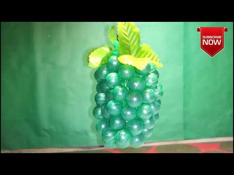 Awesome craft ideas Technique of grapes with | Use marvel And Plastic Bag