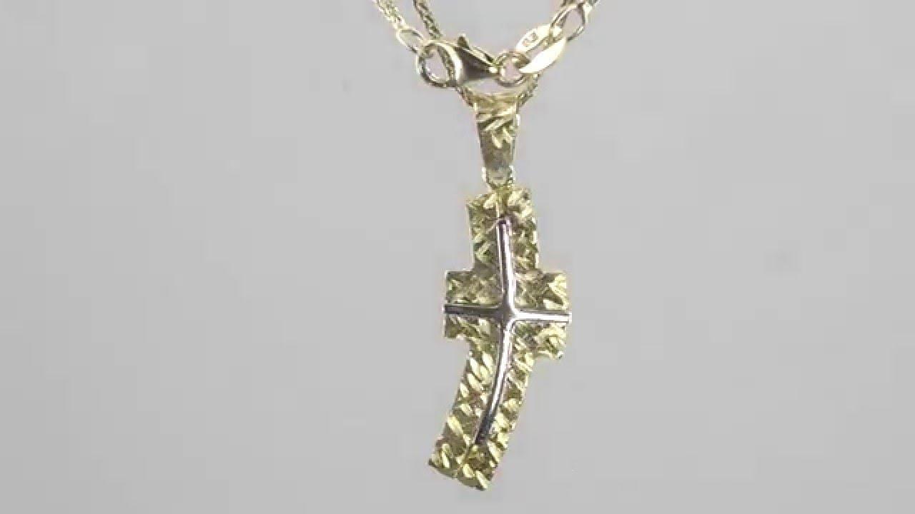 e163922c82c Χρυσός ανδρικός σταυρός με αλυσίδα 14 καρατίων D017395C