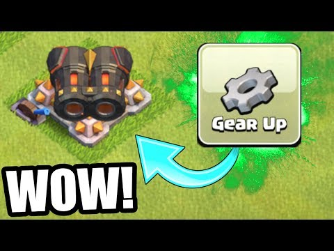 GEMMING THE GEAR UP ABILITY IN CLASH OF CLANS!! - THIS LOOKS