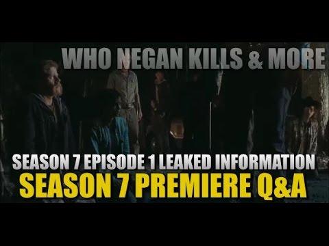 The Walking Dead Season 7 Negan Kill Episode 1 Spoilers Episode Q&A