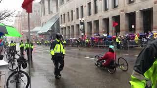 Michigan's Desiree Linden wins Boston Marathon