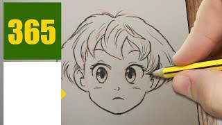 HOW TO DRAW A FACE CUTE, Easy step by step drawing lessons for kids