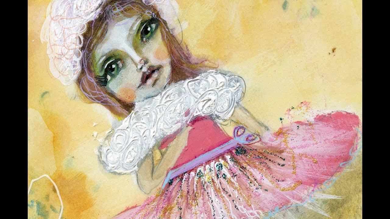 Mixed Media Girl Art Card Lullaby League Wizard Of Oz Art Crawl