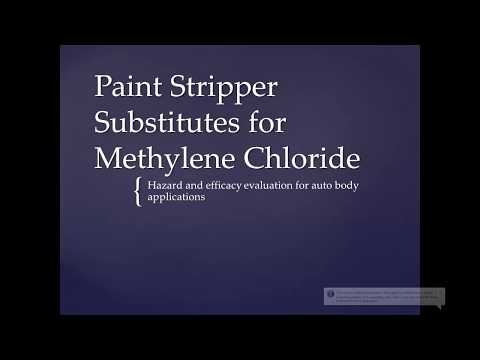 Finding Safer Alternatives To The Use Of Methylene Chloride In The Collision Repair Industry