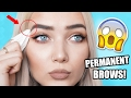 DIY PERMANENT EYEBROWS! IT ACTUALLY WORKS!