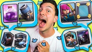 DECKS from TWEETS? (Clash Royale Nickatnyte Funny Moments)