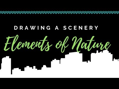HOW TO DRAW SCENERY WITH MARKERS || KIDS DRAWING STEP BY STEP ||  LANDSCAPE DRAWING