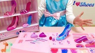 自分でデザイン くつ屋さん お店やさんごっこ / Shoe Store Playset , Decorate Shoes  : I Love Shoes