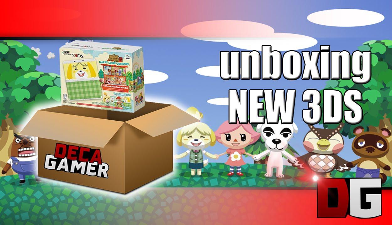 Unboxing New Nintendo 3ds bundle Animal Crossing Happy ...