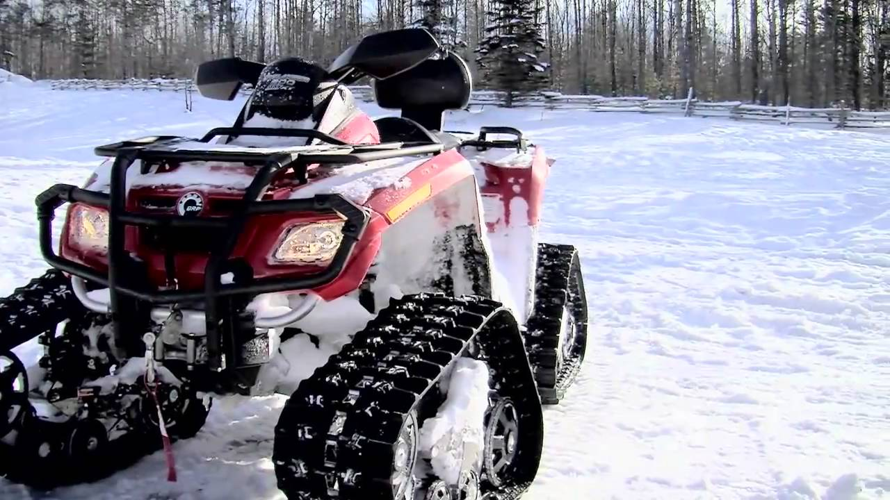 Can Am 800 With Apache Track System In Hd Youtube