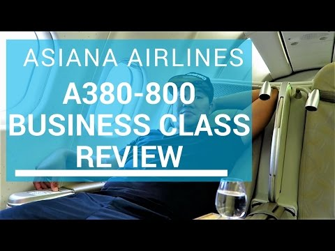 $3,239 ASIANA AIRLINES A380-800 BUSINESS CLASS REVIEW