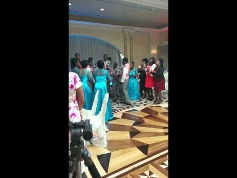 Wedding reception church TURN UP!