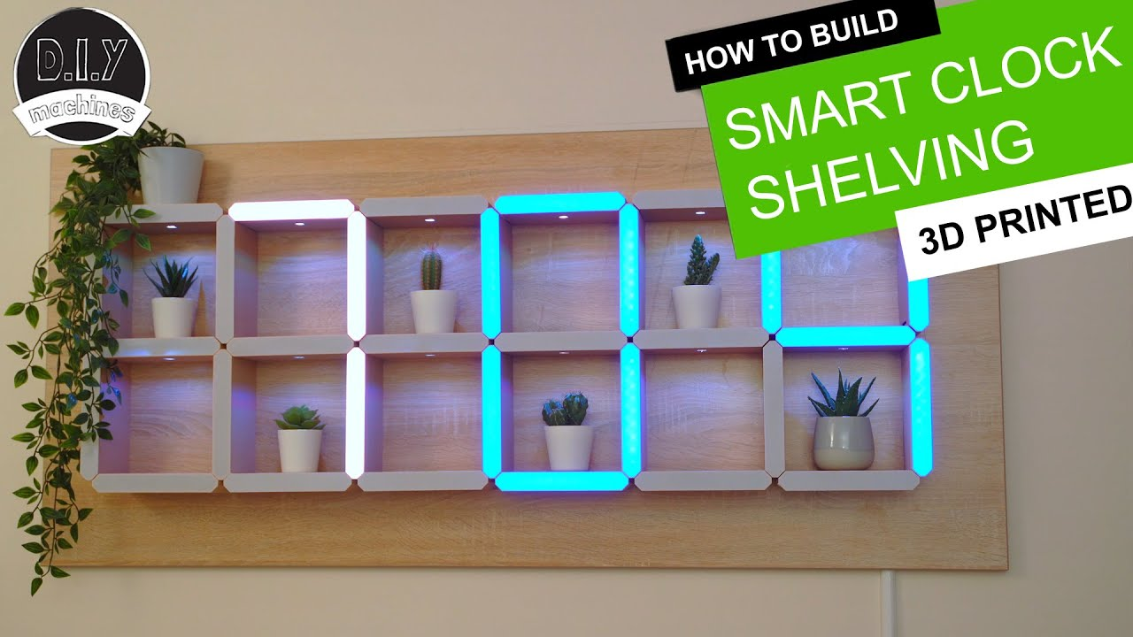 How to build a Hidden Shelf Edge Clock -  3D Printable | Elegoo Arduino Nano | Smart Home | LED