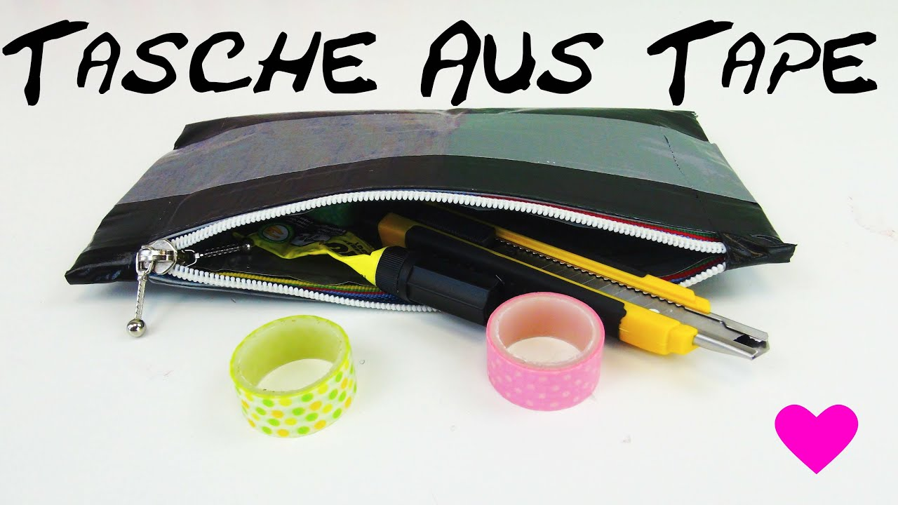 diy tasche aus panzertape selber machen anleitung how to. Black Bedroom Furniture Sets. Home Design Ideas