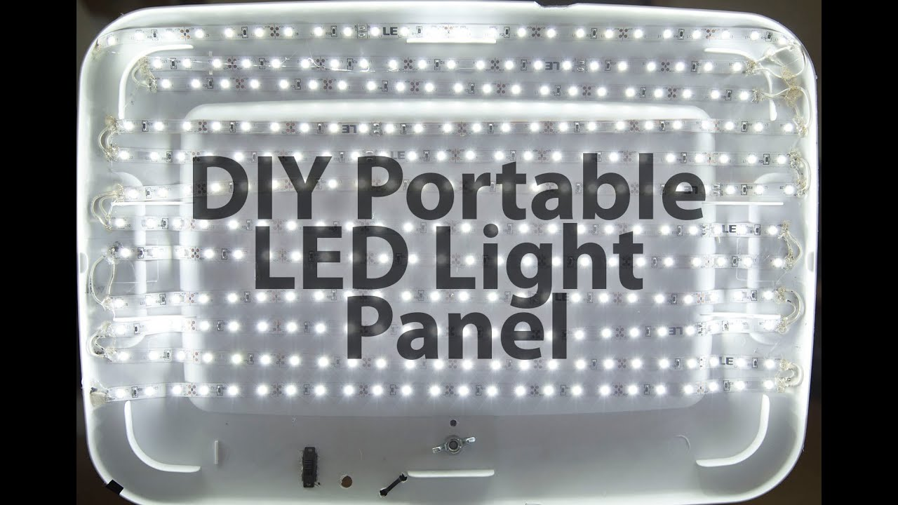 diy portable led light panel youtube. Black Bedroom Furniture Sets. Home Design Ideas
