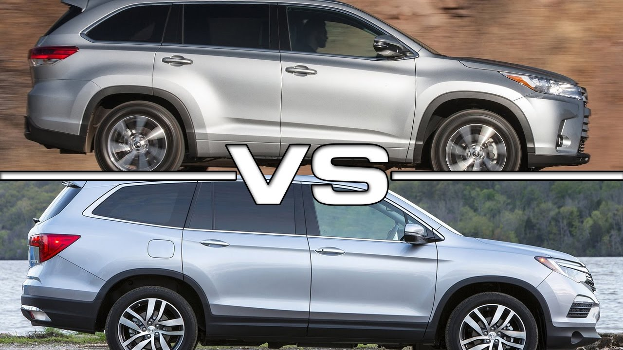 Toyota Highlander Vs Honda Pilot >> 2017 Toyota Highlander Vs 2016 Honda Pilot Youtube