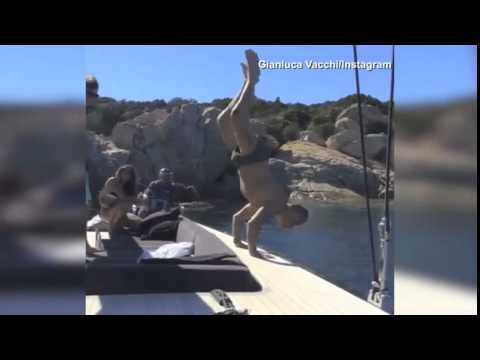 """Zac Efron and pal Gianluca Vacchi flip out on a boat"""""""