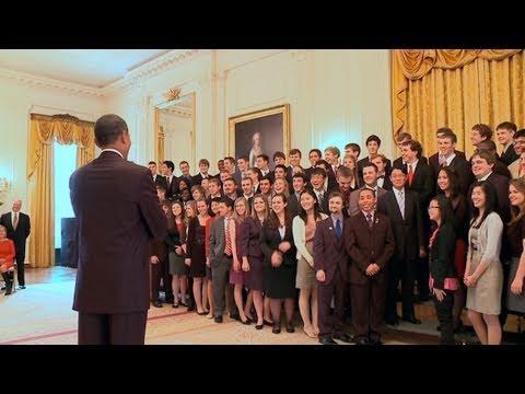President Obama Meets with Senate Youth Program Delegates