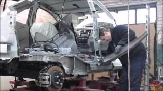 Nissan Leaf. The rear fender replacement. Замена заднего крыла.