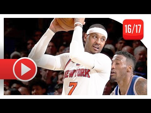 Carmelo Anthony Full Highlights vs Sixers (2017.02.25) - 37 Pts, GodMelo Mode!