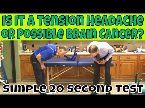 Is It A Tension Headache or Possible Brain Cancer? Simple 20 Second Test