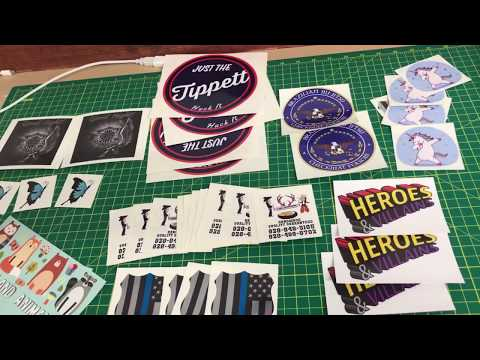 Making Money Printing Stickers! Roland-BN20. Review On Eco-solvent Printers. Printing On Vinyl