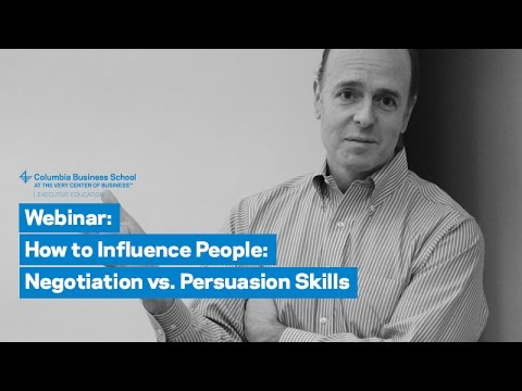 How to Influence People: Negotiation vs. Persuasion Skills