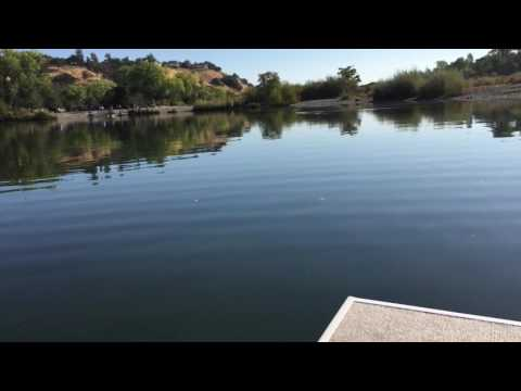 Home made fishing barge on the water with a motor!!!