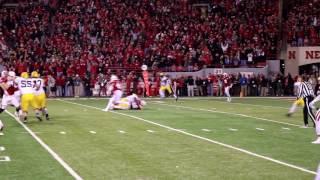 Huskers final INT vs Minnesota sideline reaction