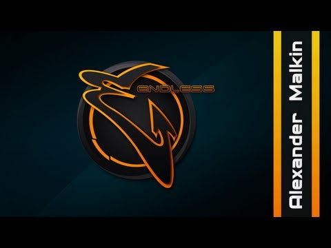 create logo - endless Photoshop speed art - YouTube