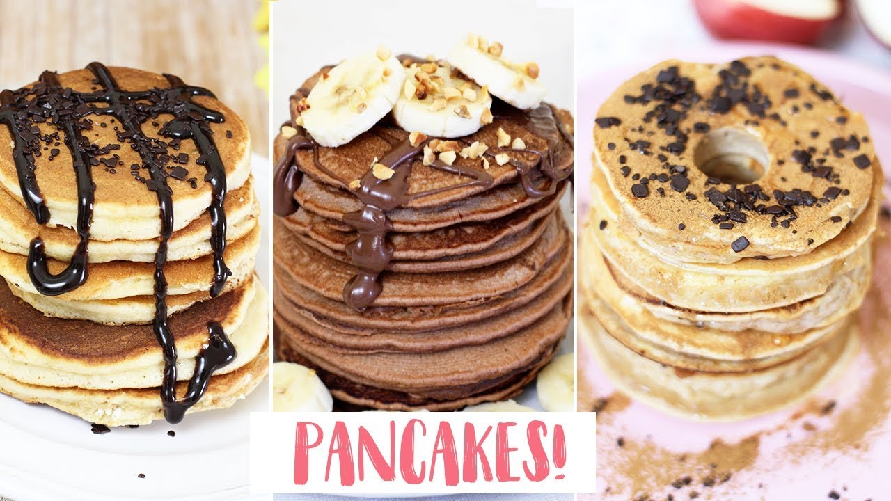 Ricetta Pancake Di Benedetta.Pancakes 3 Idee Pancakes Cuor Di Nutella Senza Uova E Mela Pancakes Fatto In Casa Da Benedetta Rossi