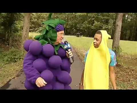 Nbc Station Wrc Pat Collins Wears Grape Costume To Interview