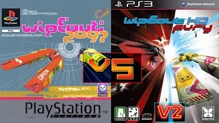 WipEout 2097 Vs WipEout HD - 1080p/60fps (v2)