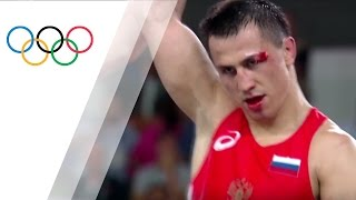 Russia's Vlasov claims gold in Men's Greco-Roman Wrestling
