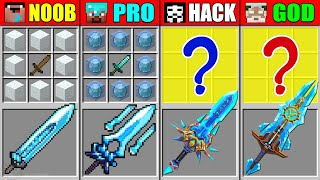 Minecraft NOOB vs PRO vs HACKER vs GOD ICE SUPER SWORD CRAFTING CHALLENGE in Minecraft Animation