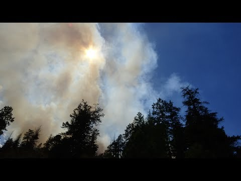 Breaking News - Wildfire Swarm in the Okanagan  - July 18, 2018  - YouTube