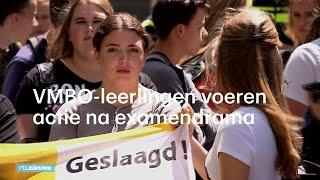 VMBO-leerlingen voeren actie na examendrama: 'We willen ons diploma terug!' - RTL NIEUWS