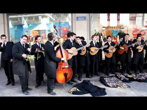 Portuguese band plays in the streets of Geneva