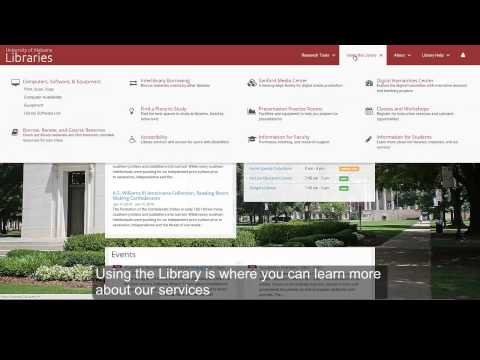 Intro to The University of Alabama Libraries New Website