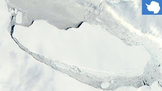 A68 iceberg  Colossal trillion ton iceberg the size of Delaware is now adrift at sea   TomoNews