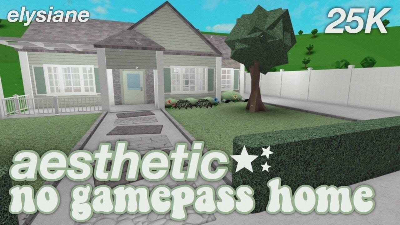 Roblox Bloxburg Aesthetic No Gamepass Starter Home 25k Youtube