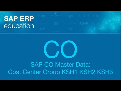 SAP CO Master Data: Cost Center Group KSH1 KSH2 KSH3 группа МВЗ