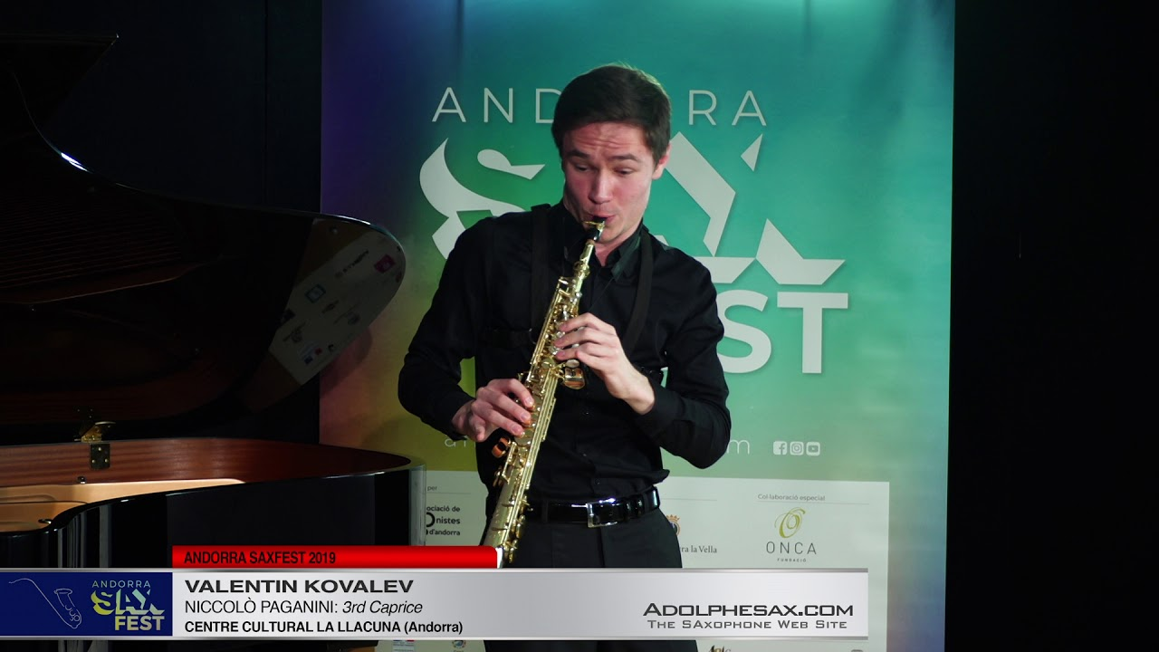 Andorra SaxFest 2019 1st Round   Valentin Kovalev   3rd Caprice by Niccolo Paganini