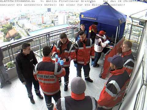 4. Berliner Firefighter Stairrun 2014 Webcam Ziel ab 15:25 Uhr